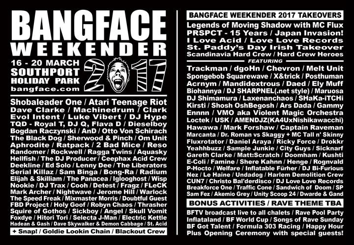 BANGFACE_BANGFACEWeekender2017lineupdoub