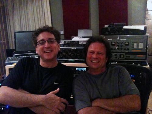 Eric Zobler & Paul Peress in the studio...