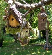 Given Back Birdhouses at The Thyme Garden