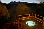 Guests at the Mountain Goat Lodge in Salida can enjoy a hottub under the stars