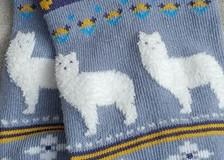 Fuzzy fun alpaca socks