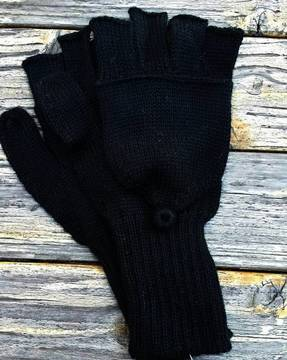 100% alpaca glittens gloves