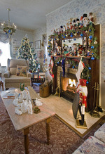 The nutcracker collection is a holiday hallmark of the Holden House' inn decor...