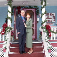 Commissioner Sallie Clark and her husband Welling Clark at their home in Colorado Springs during the holiday season