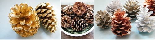 natural christmas decor pine cones
