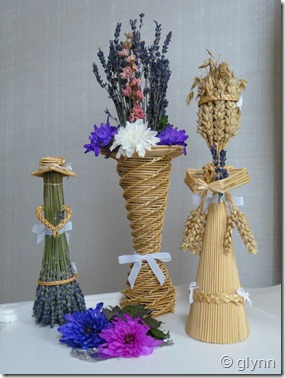 dried lavender bunches make dolls
