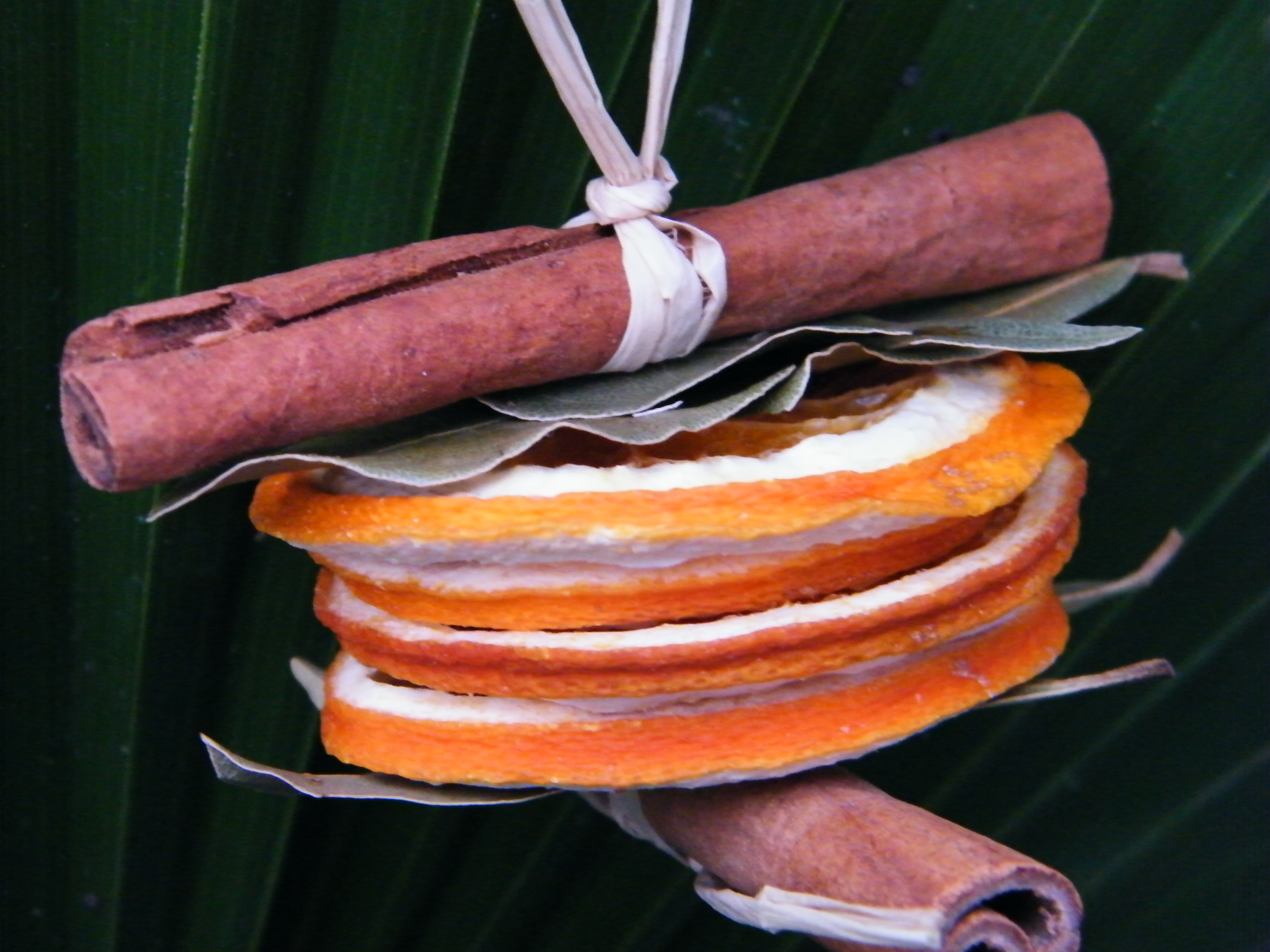 natural christmas decoration orange slices cinnamon sticks
