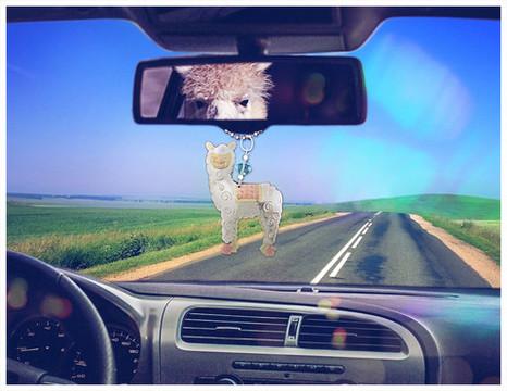 alpaca car charm
