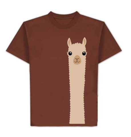 fun alpaca t-shirt alpaca watching