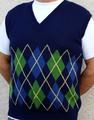 argyle golf alpaca vest