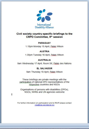 Invitation to the side events at the United Nations in Geneva April 2013