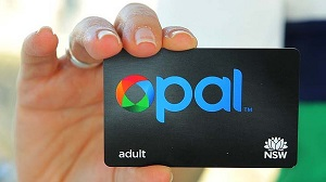 IMAGE: A person holdds up the OPAL card.