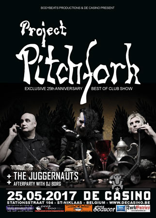 25.05 Project Pitchfork + The Juggernauts @ De Casino - St-Biklaas, B