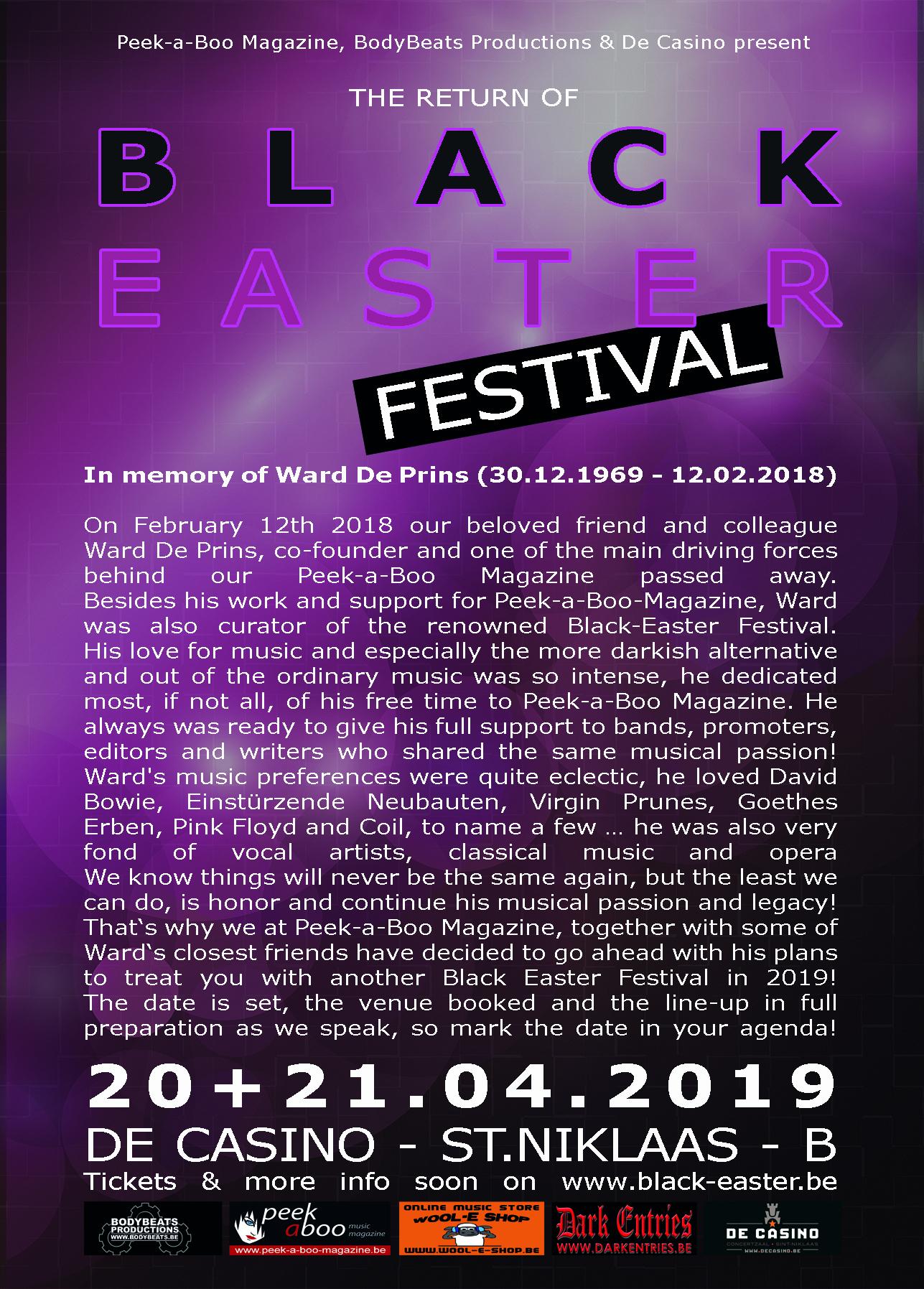 20 + 21.04 Black Easter Festival @ De Casino - St-Niklaas - B