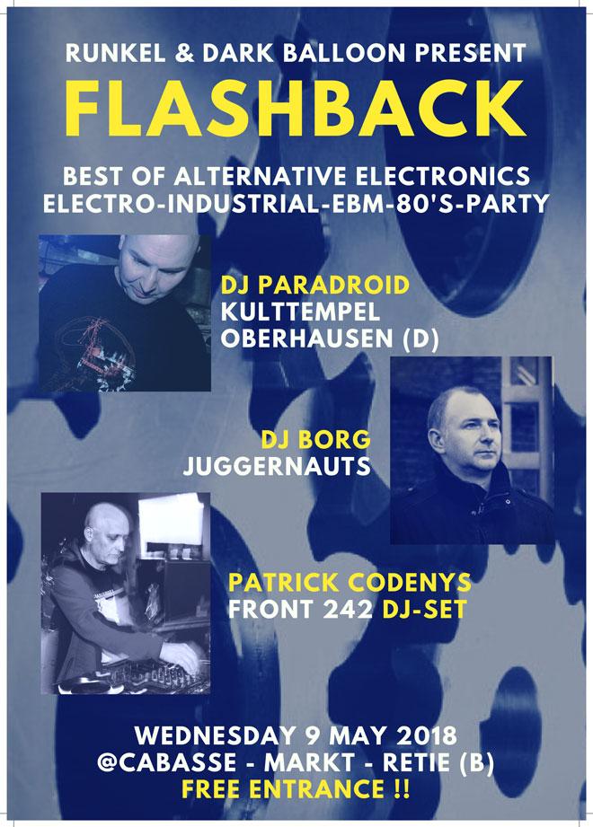 09.05 Flashback with DJ BORG, Patrick Codenys (F242) & Paradroid @ Cabassa - Retie - B