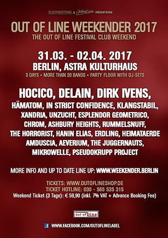 31.03 The Juggernauts + Dirk Ivens @ Out Of Line Weekender - Berlin - D