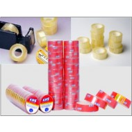 Kws brand super clear stationery tape size 12mm width 20 yards