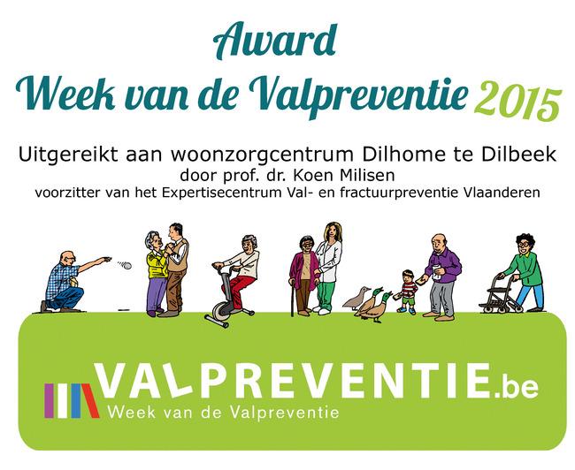 Award Week van de Valpreventie 2015