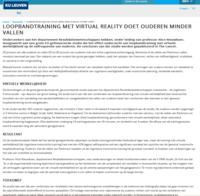 Artikel Loopbandtraining met virtual reality doet ouderen minder vallen