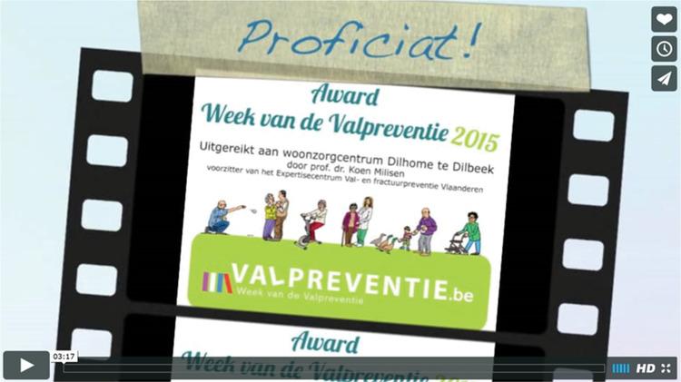 uitreiking award Week van de Valpreventie 2015