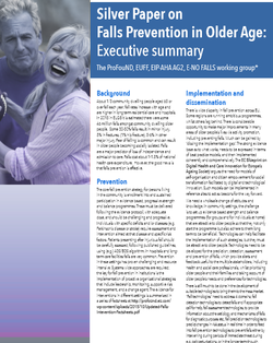 Silver paper on falls prevention in older age