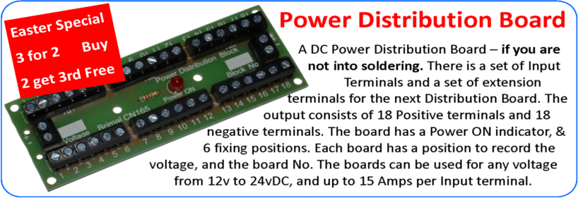 Brimal Components CN165 Power Distribution Board