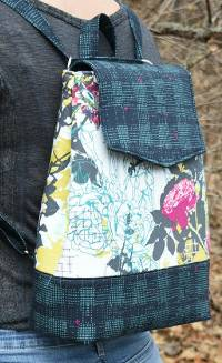 Izzy Convertible Backpack Pattern by Around The Bobbin