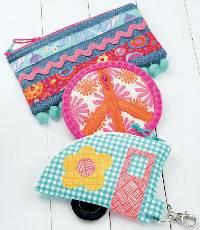 Hippie Zips Pattern by Atkinson Designs