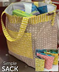 Simple Sack Pattern by Atkinson Designs