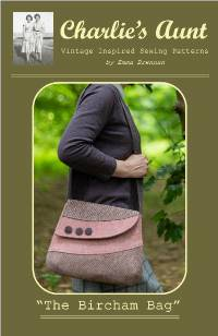 The Bircham Bag Pattern by Charlie's Aunt