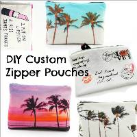 DIY Custom Zipper Pouches by Trash to Couture