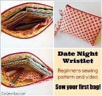 Date Night Wristlet Pattern by Sew So Easy