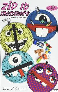 Zip It Monsters Pattern by Easy Peazy Quilts