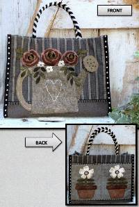 Red Red Roses Tote Pattern by Heart to Hand