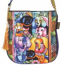 Canine Clan Stacked Crossbody Bag by Laurel Burch