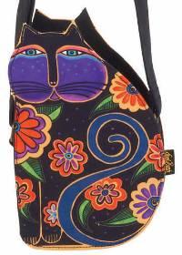 Feline Family Cut Out Crossbody Bag (Black) by Laurel Burch