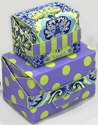Girtie Gift Boxes Pattern by Lazy Girl Designs