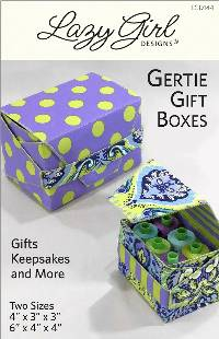 Gertie Gift Boxes Pattern by Lazy Girl Designs
