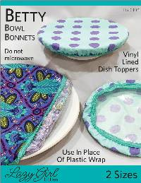 Betty Bowl Bonnets Pattern by Lazy Girl Designs