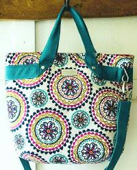 The Fiesta Tote Bag by Sewing Patterns by Mrs H