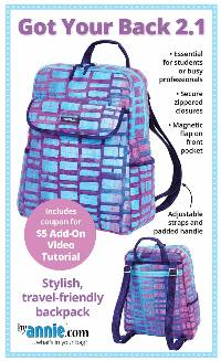 Got Your Back 2.1 Backpack Pattern by Annie