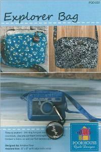 Explorer Bag Pattern by Kristine Poor of Poorhouse Quilt Designs