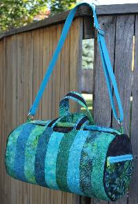 the Daily Duffle Bag Pattern with hardware kit by Sassafras Lane Designs