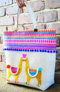 Llama Love Market Tote Pattern by Sew Quirky