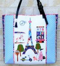 A Stitch in Paris Tote Bag Pattern by Sew Quirky