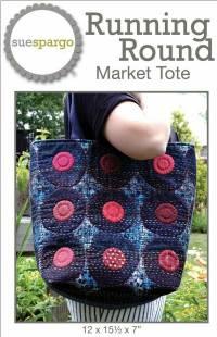 Running Round Market Tote Pattern by Sue Spargo