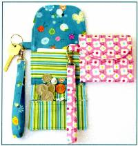 Cash On Hand! Wristlet Wallet & Key Fob Pattern by Susie C Shore Designs