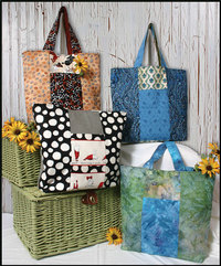 Six Pack Stack Reversible Tote Pattern by WhistlePig Creek Productions