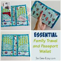 Family Travel and Passport Wallet Pattern by So Sew Easy