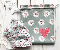 facemask drawstring pouch tutorial